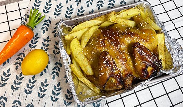 约克蒸烤一体   无法抗拒的「五香蜜汁烤鸡」做法